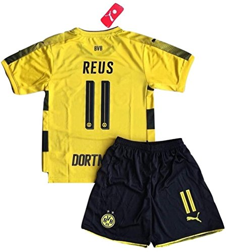 Marco Reus #eleven Borussia Dortmund 2017-18 Kids/Youths Home Soccer Jersey & Shorts (eleven-thirteen Years Previous) – DiZiSports Store