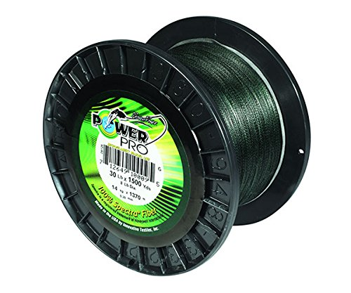PowerPro Power Pro 21100150500E Braided Spectra Fiber Fishing Line, 15 Lb/500 yd, Moss Green For Sale