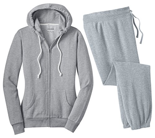 Kamal Ohava Junior's 2-piece Set Core Fleece Hoodie + Pant,4XL Plus, Ath Heather