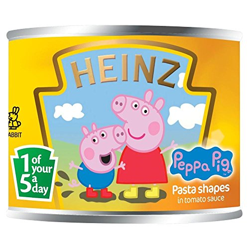 (Heinz Peppa Pig Pasta Shapes in Tomato Sauce (205g) - Pack of 2)
