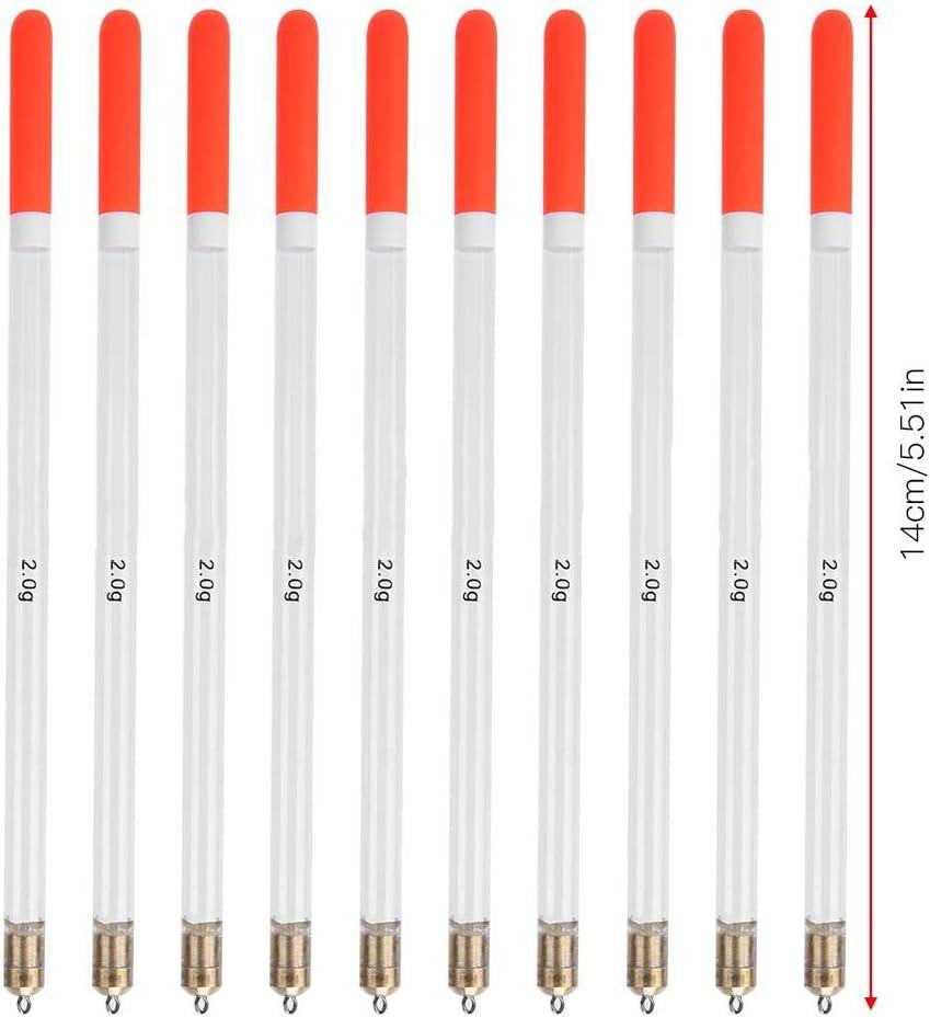 10 Piezas Flotadores de Pesca de pl/ástico Duradero y Surtido Bobber Tubo de Palo Cebos de alimentaci/ón de Peces Multiusos para Pesca en el mar Keenso Kit de Pesca Bobber Pesca en Roca