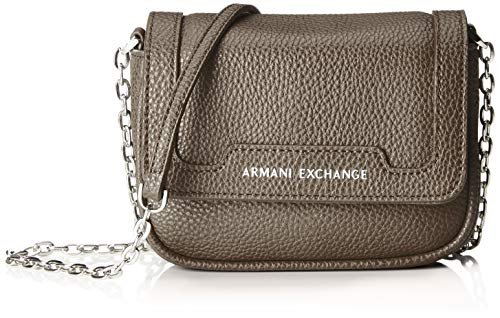 (A|X Armani Exchange Chain Strap Small Crossbody Bag, Taupe 292)