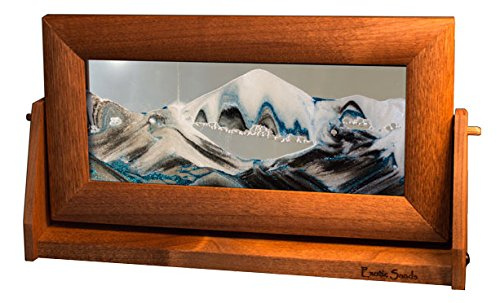 Exotic Sands Md14 USA Medium Alder Frame (Arctic Glacier) Moving Sand Pictures by William Tabar. Sand Art. - Sand Pictures Moving