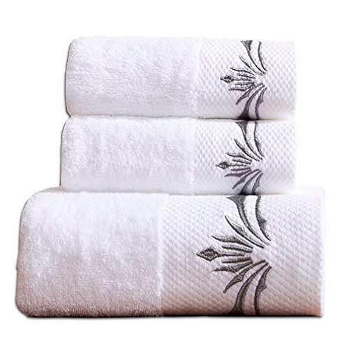 Luxury Hotel Cotton 900 GSM 3PCS Bath Towels Sets;1 Large Bath Towel, 1 Hand Towel & 1 Washcloth