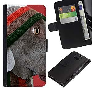 Graphic Case / Wallet Funda Cuero - Plott Weimaraner Corso Retriever - HTC One M8