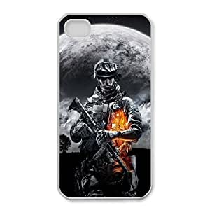 Generic Design Back Case Cover iPhone 4,4S Cell Phone Case White battlefield igry Miysr Plastic Cases
