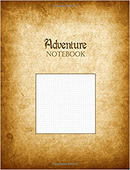 adventure notebook 1 8 dot grid graph paper rule deluxe tomes