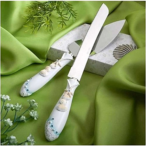 - Brand New Wedding Cake Resin Handle Knife and Serving Set