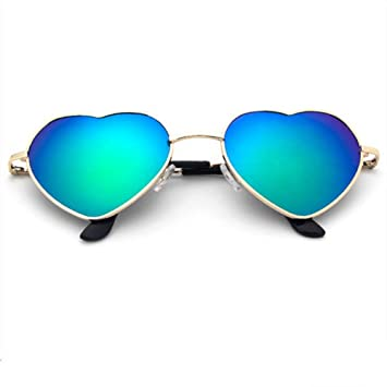 WDDYYBF Gafas De Sol, Corazón Reflexivo Las Gafas De Sol ...