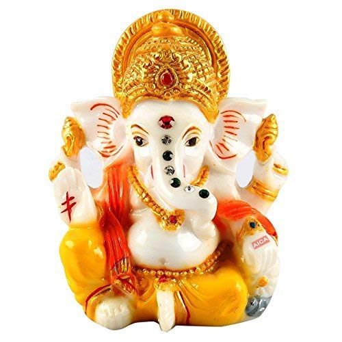 AICA Microfiber Lord Ganesha Idol, Small, Multicolour