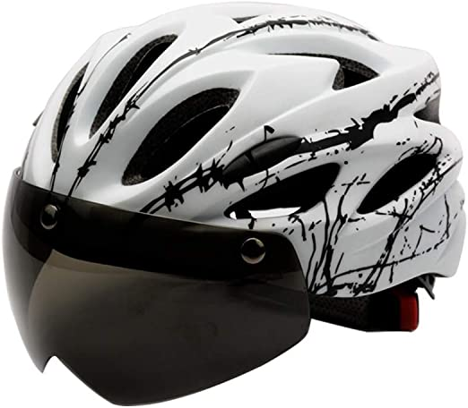 Casco de Ciclismo con Gafas magnéticas en Molde Hombres y Mujeres ...