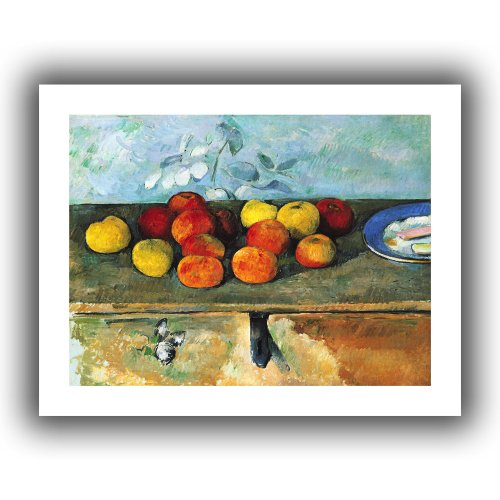 ArtWall 'Still Life of Apples and Biscuits' Unwrapped Canvas Artwork by Paul Cezanne, 22 by 28-Inch (Cezanne Still Life Apples)