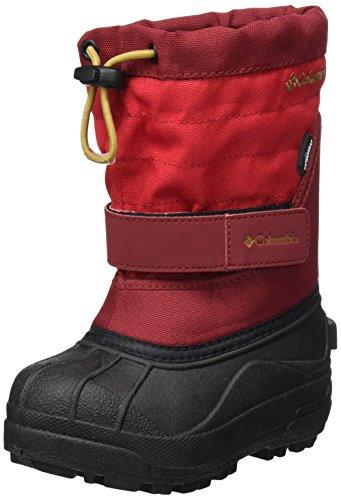 Columbia Unisex-Kids Childrens Powderbug Plus II Snow Boot, Mountain Red, Maple, 13 M US Little Kid (Columbia Boys Snow)