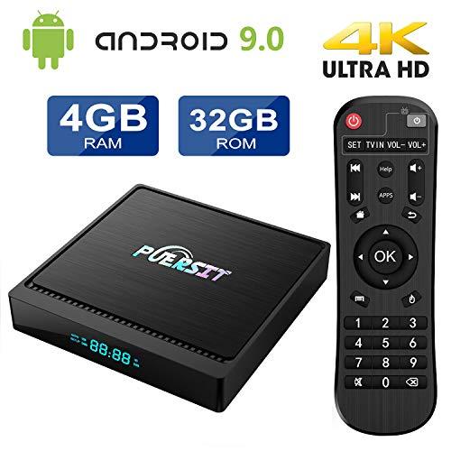Android 9.0 TV Box 4GB RAM 32GB ROM X96 Mini Pro Android TV Box with Amlogic S905X2 Dual WiFi 2.4G/5G 4K/HD 3D BT4.0 USB 3.0 Smart TV Box by puersit (Internet Tv Android)