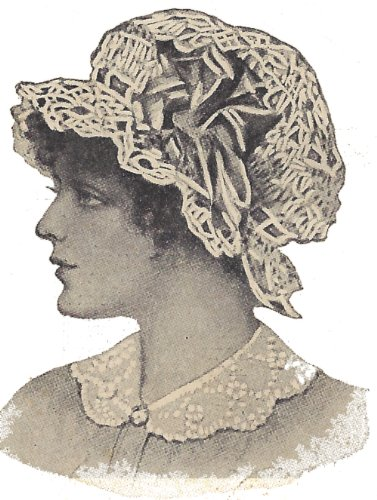 Vintage Crochet PATTERN to make - Antique Boudoir Cap Mopcap Swimming Hat. NOT a finished item. This is a pattern and/or instructions to make the item only.