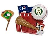 CAKEMAKE MLB Home Run, Cake Topper, Oakland Athletics