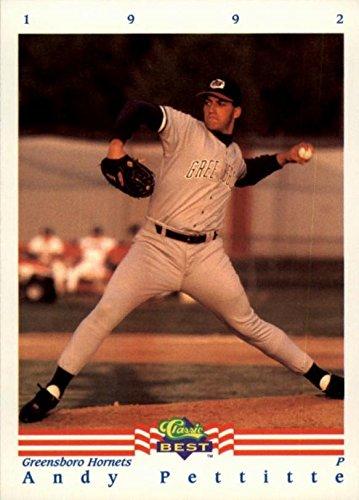 Andy Pettitte Baseball Card (Yankees, Greensboro Hornets) 1992 Classic Best Minor League Rookie ()