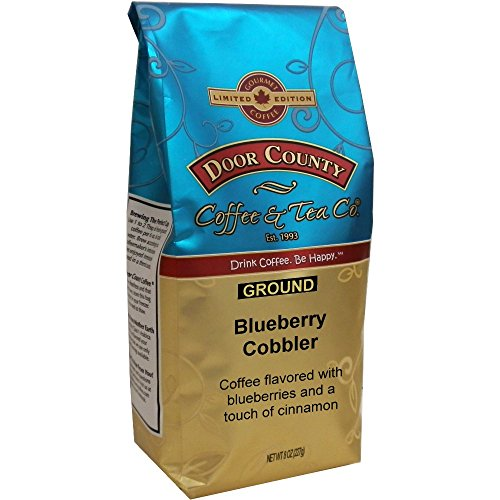 Door County Coffee, Spring & Summer Seasonal Blend, Blueberry Cobbler, Ground, 8oz Bag