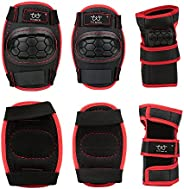 Child Sports Protective Gear Safety Pad Safeguard Knee Elbow Wrist Support Pad Set Equipment for Children Roll