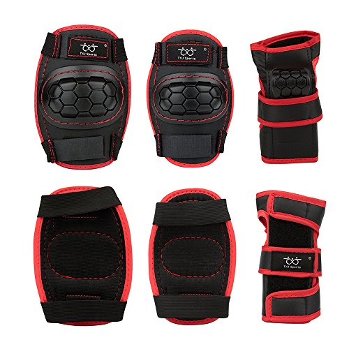 Review Smartodoors Kids Child Knee Pads and Elbow Pads with Wrist Guards Protective Gear Set for Biking, Riding, Cycling and Multi Sports Safety Protection: Scooter, Skateboard, Bicycle, inline skatings