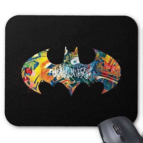 Rectangle Gaming Mousepad Batman Logo Neon/80s Graffiti Mouse Pad - Neon Blue Mouse Pad