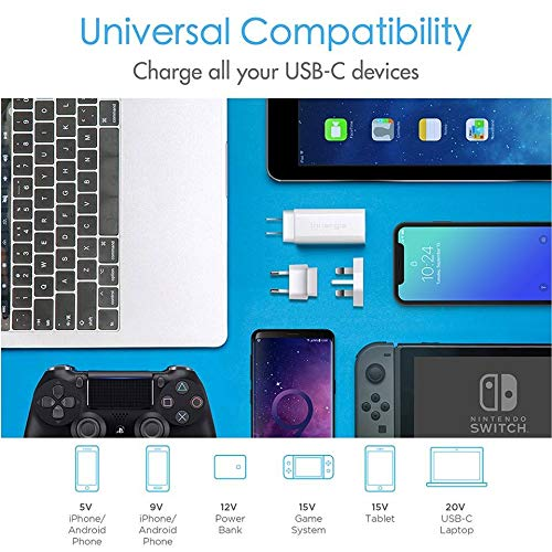 Innergie USB C Charger, 60W International Laptop Charger, World's Smallest USB-C Power Adapter with Interchangeable EU/UK Plugs, for New MacBook Pro/MacBook Air, Supports PowerDelivery USB PD [60C] by Innergie (Image #3)