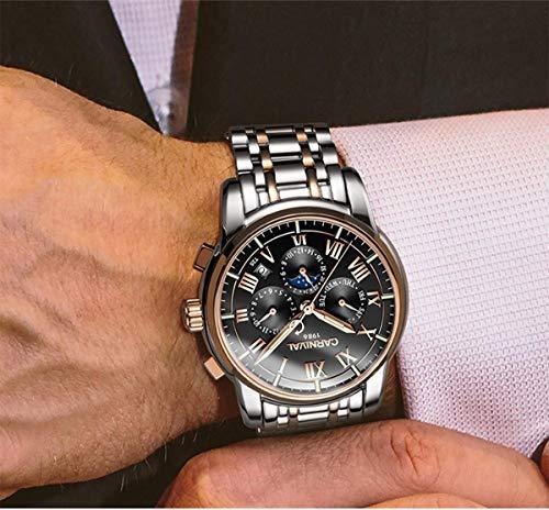 CARNIVAL klocka herr topp märke automatiska mekaniska klockor business armbandsur klocka Colore