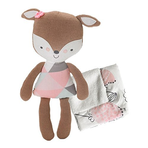 Lolli Living Softie Plush & Blanket – Fiona Deer (Knit) – Stuffed Animal And Security Blanket Set, Cotton Shell, Soft And Comforting For Babies, Toddlers&Children 223039