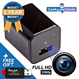 Spy Cam Hidden Security Camera - Ideal Nanny Cam, Disguised USB Phone Charger - Motion Detector, Low-Light, 1080p HD Video – Free 32GB Memory – Easy Manual