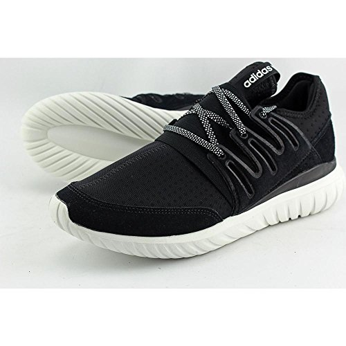 adidas Men's Tubular Radial Running Shoes Core Black/Vintage White 8.5 D(M) US