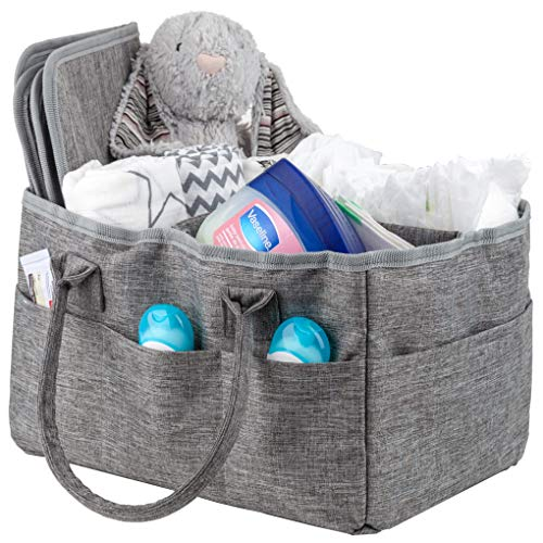 - Baby Diaper Caddy Portable Diaper Tote Nursery Storage Caddy Changing Pad