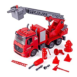 iLifeTech Fire Truck 3 in 1 Take Apart Realistic Fireman Toy for 3+ Years Old Boy and Girl (Fire Trucks)