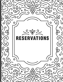 2019 365 Day Guest Booking Diary Reservations: Reservation Book For Restaurant Hostess Table Log Journal Black Faux Leather