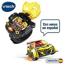 Vtech Turbo Force Racers - Coche control remoto con mando adaptado para llevar en la muñeca, conduce en 6 direcciones y activa el modo turbo, voces en español