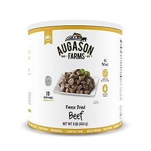 Augason Farms Freeze Dried Beef Chunks 1 lb No. 10 Can