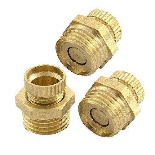 UPC 712662173946, 13mm Male Thread Dia Security Water Drain Valve Brass Tone 3 Pcs