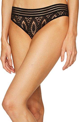 Else Lingerie Women's Baroque Bikini Briefs, Black, X-Small