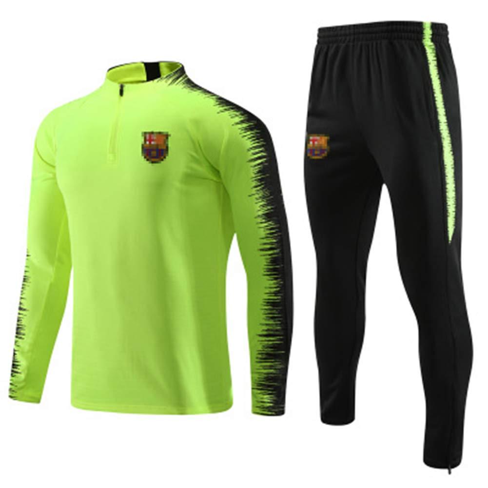 HZSL-LI Automne Et Hiver 32~37kg//140~150cm Pantalon Vert,Child#S Costume Formation De Football Costume # F/útbol Club Barcelona Jou/é Veste De Costume De Formation De Football
