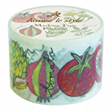 Aimez le Style Vegetable Design 38mm width Washi Paper Masking Tape