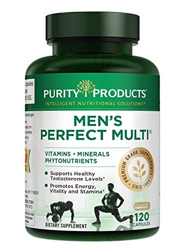 Perfect Multi Super Greens - Men's Perfect Multi from Purity Products | Vitamins, Minerals and Phytonutrients | Supports Healthy Testosterone Levels* & Promotes Energy, Vitality and Stamina | 120 Capsules