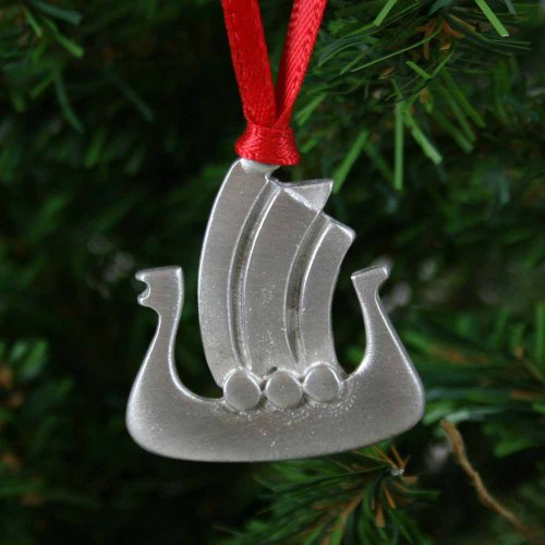 Viking Ship Pewter Ornament