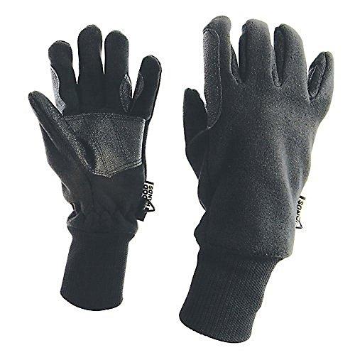 - Dublin Adults Waterproof Polar Fleece Riding Gloves - Black - Large