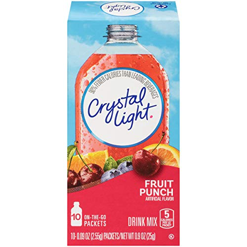 Crystal Light Fruit Punch Drink Mix (60 Packets, 6 Canisters of 10) (Pack of 6)