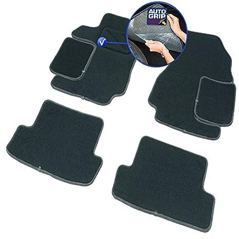 DBS 1765816 Alfombrillas de coche - A medida - Alfombrillas para coche - 4 uds. - Antideslizante - Moqueta en negro 900 g/m² - Aspecto terciopelo - ...