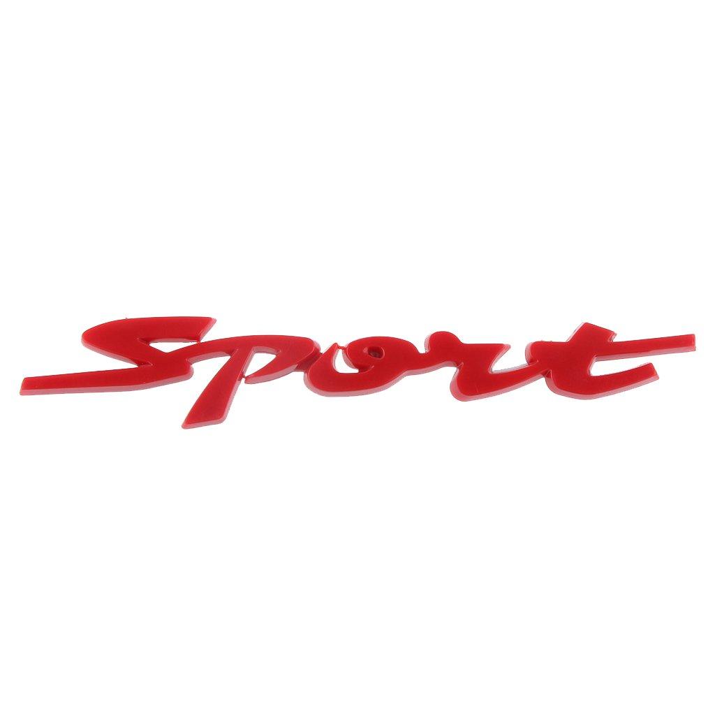 Pegatina SPORT 3D Insignia de Plá stico para Coche - Negro, Rojo Generic