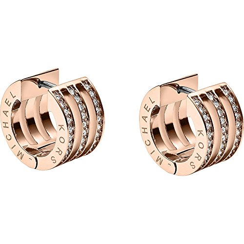 Michael Kors Women's Pave Huggie Earring Rose Gold One - Pave Michael Gold Kors Watch