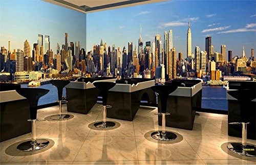 (Yosot 3D Wallpaper Custom Photo Non-Woven Mural Wall Sticker Hd Manhattan New York Scenery Painting 3D Wall Room Murals Wallpaper-350Cmx245Cm)