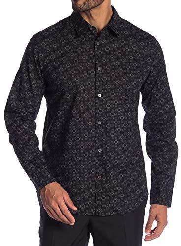 John Varvatos Star USA Men's Long Sleeve Skull Print Button Front Shirt Medium - Skull Shirt Front Button Mens