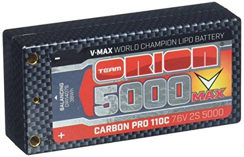 Team Orion Carbon V-Max 7.6V 5000 2S 110C ShortyTubes (Team Orion Lipo)