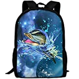 CaiLii Backpack Lovely Watercolor Dolphin Mens Laptop Backpacks Shoulder Bag School Daypack